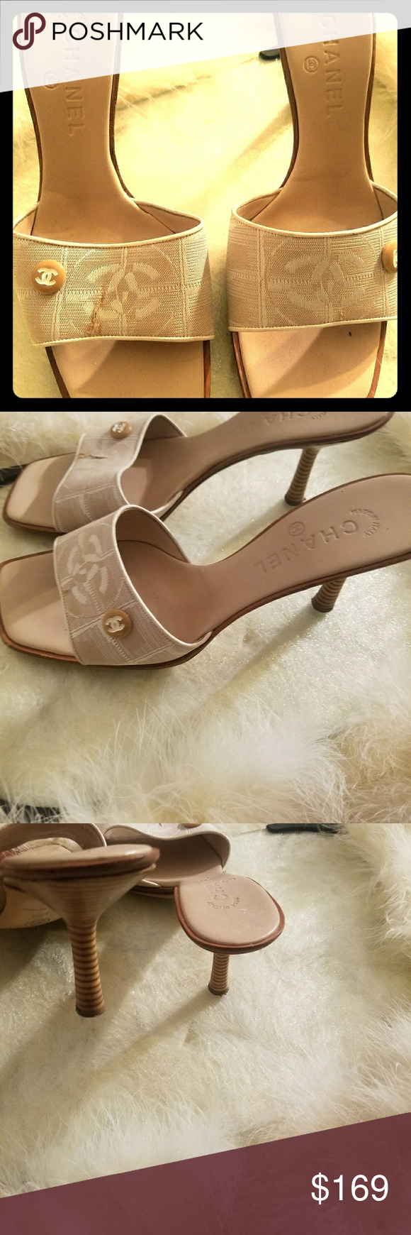 036336aceac34 Used chanel slippers
