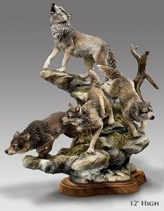 Wolf Figurines Animal Sculptures Wildlife Decor Wolf Craft