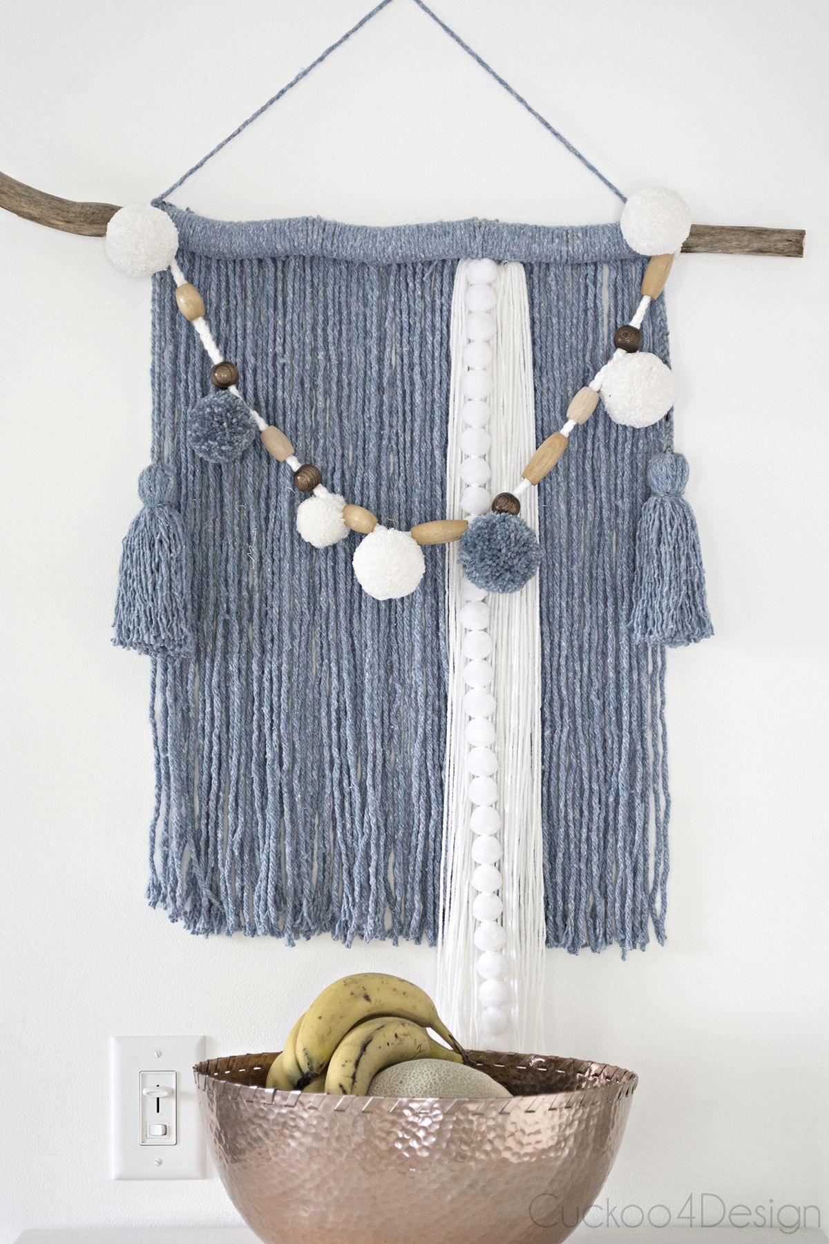Making wall weavings and yarn art can be super easy and I'm showing you how to make a Mop head yarn wall hanging with some affordable supplies.