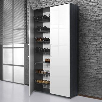 Meuble A Chaussures 38 Paires Scarpa Blanc Carbone Tall Cabinet Storage Shoe Cabinet Home