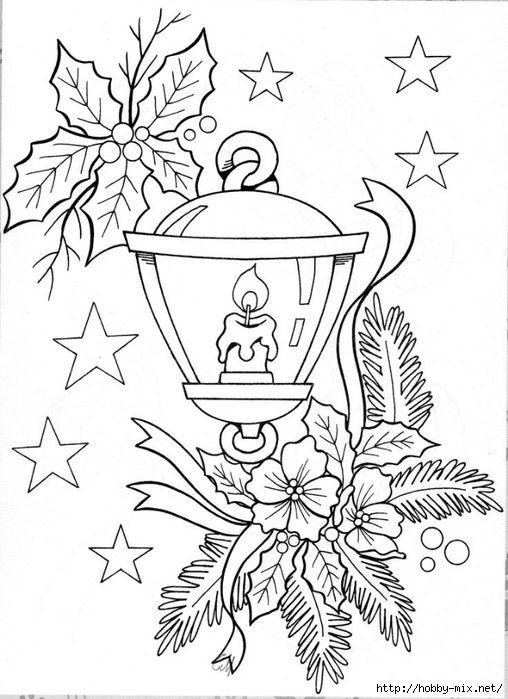 Pin de Mary Wilde en adult coloring   Pinterest   Faroles, Navidad y ...