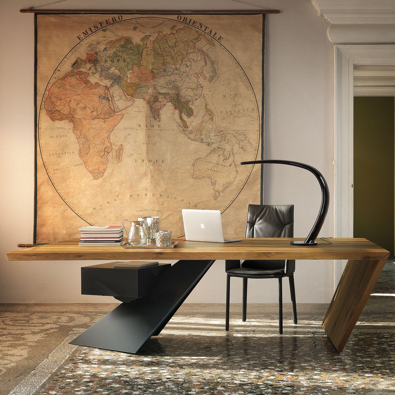 Risultati immagini per scrivania design legno studio for Scrivania legno
