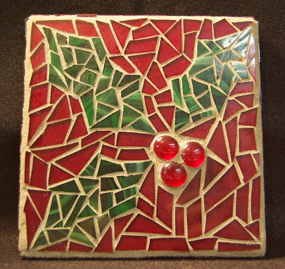 Holly Mosaic Panel by AimESmith on Etsy, $30.00
