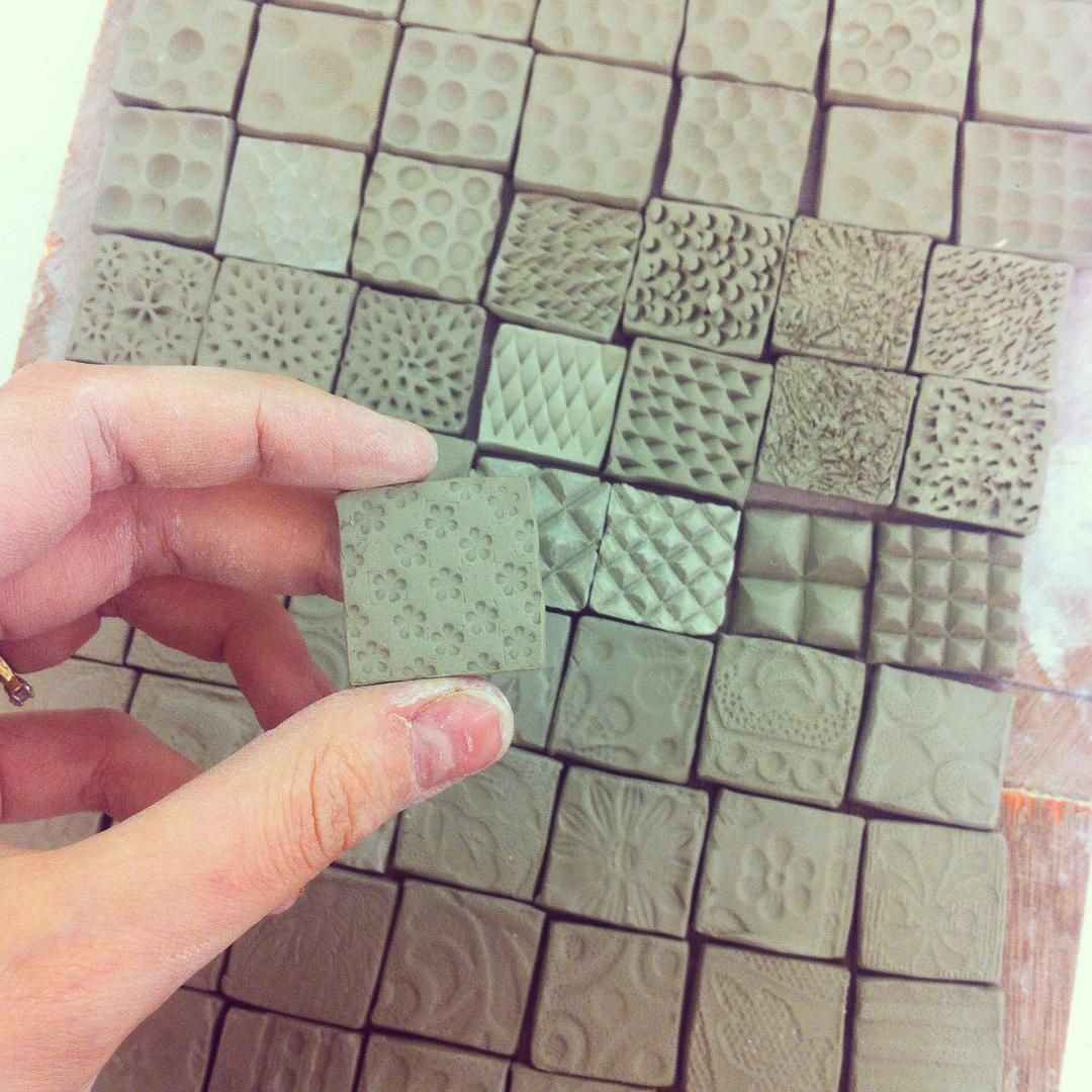Spent Today Making Tiny Tiles To Decorate A Sketchbook Ceramics