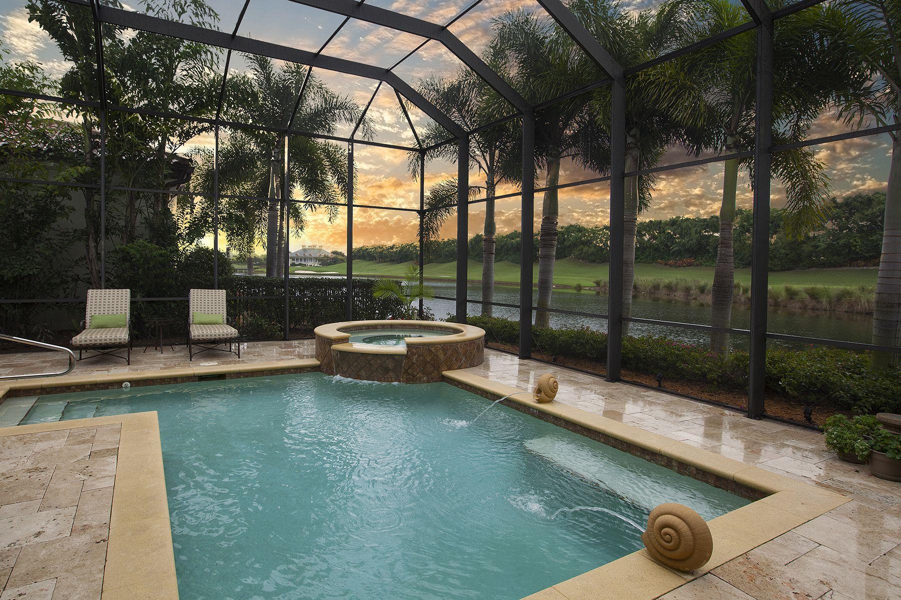 Naples Florida Estuary At Grey Oaks Visit Our Website At Premiersothebysrealty Com For Property Details And Addition Backyard Pool Florida Pool Pool Houses