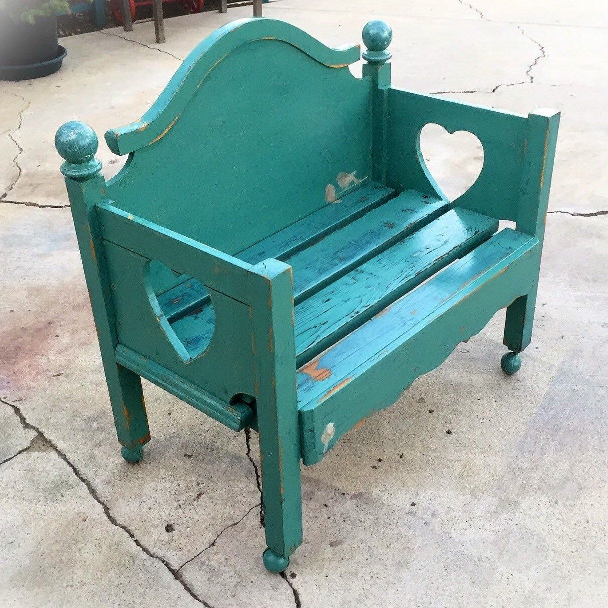 Shabby Chic Farmhouse Bench With Secret Cubby Painted Benches Farmhouse Furniture Shabby Chic Furniture