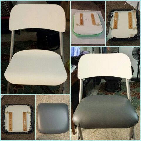 Marvelous Diy Upholstered Franklin Bar Stool From Ikea With 1 Foam Squirreltailoven Fun Painted Chair Ideas Images Squirreltailovenorg