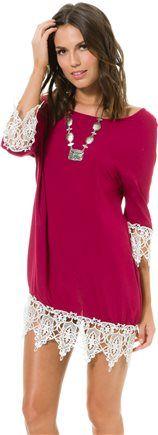 SWELL WINERY LACE EMBELLISHED DRESS | Swell.com