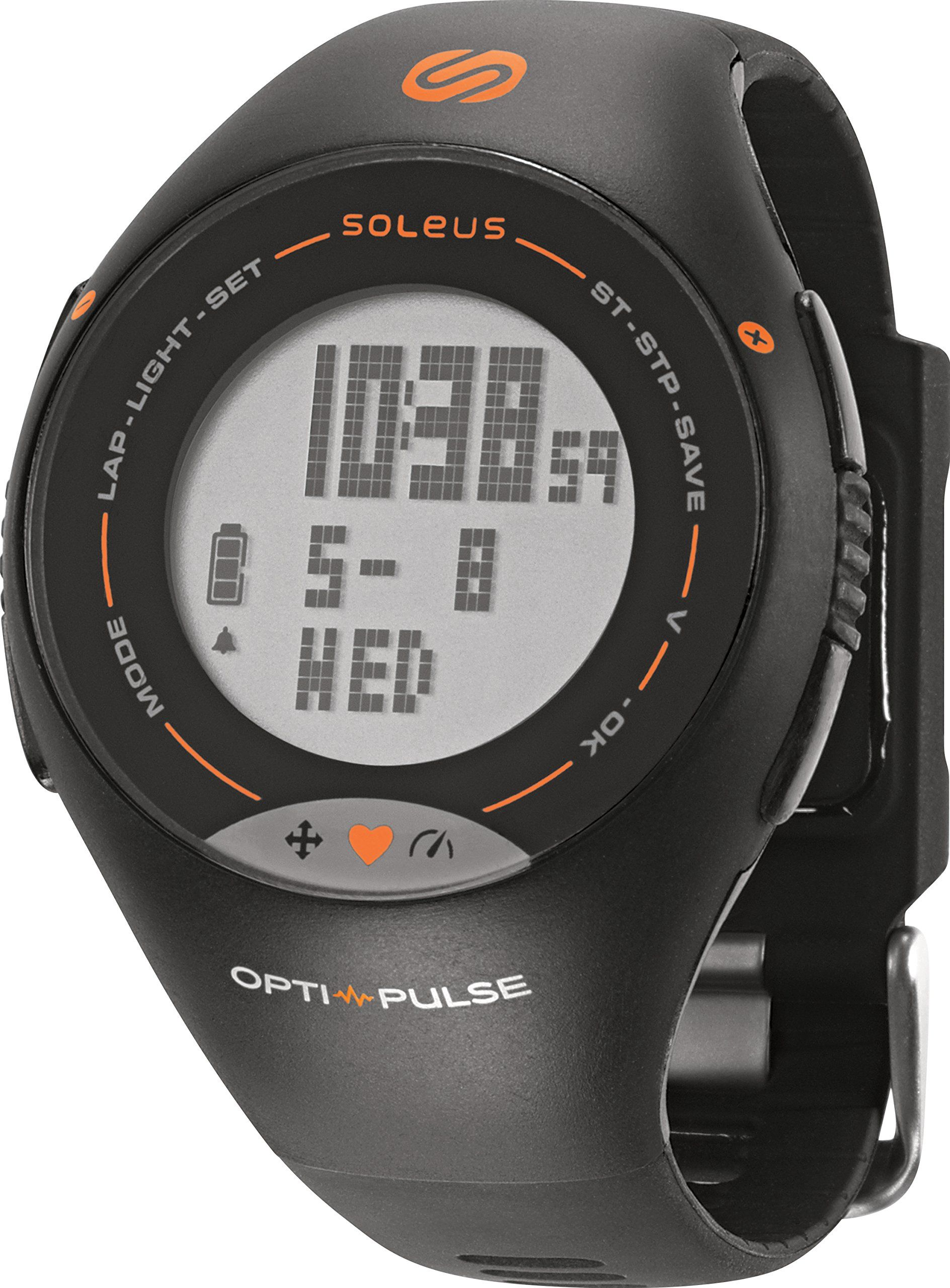 Watch with wrist hrm - Soleus Unisex Sh006 030 Pulse Hrm Digital Display Quartz Black Watch Wrist Based Hrm
