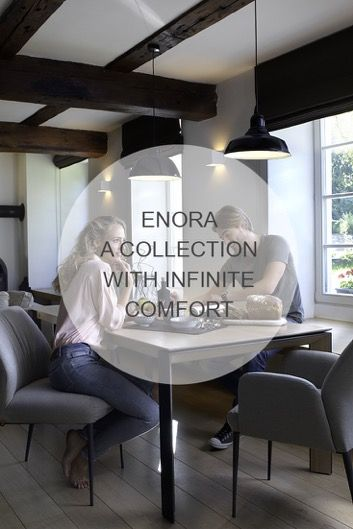 Discover Enora, our collection of design chairs, synonym of comfort