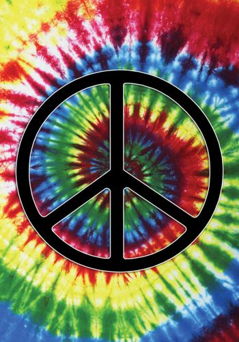 American Hippie Psychedelic Art ~ Peace Sign .. Tie Dye ...