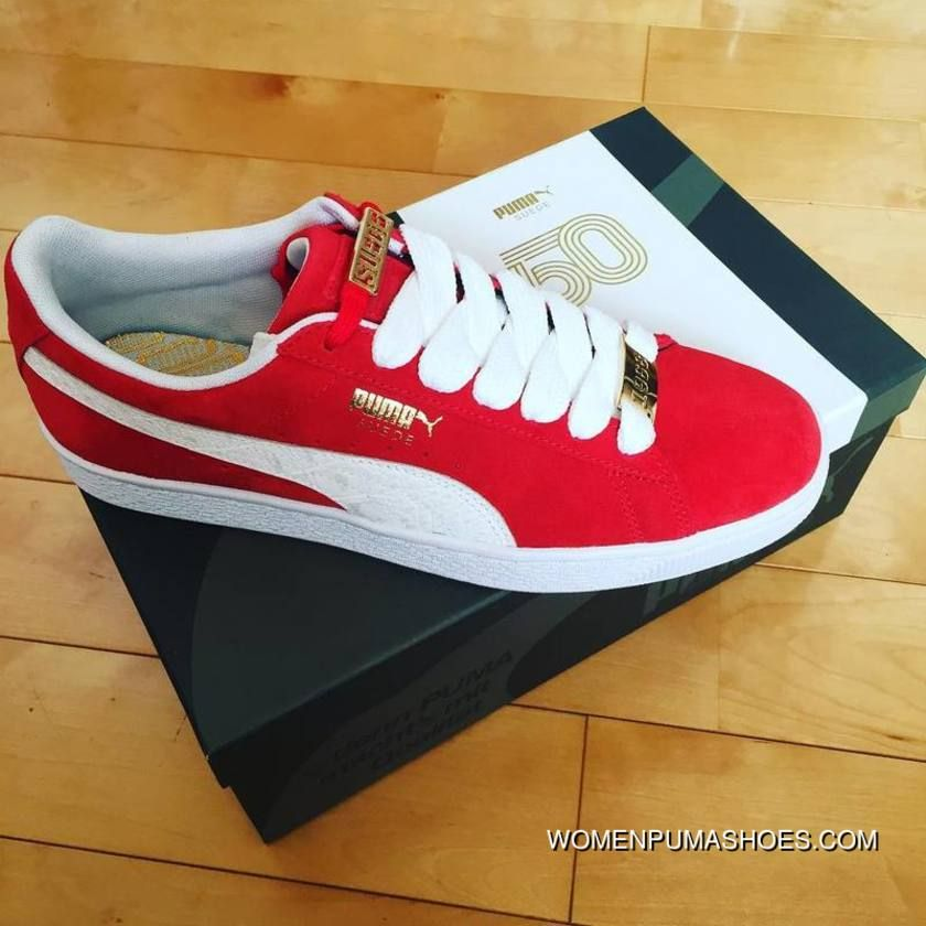 PUMA 50th Anniversary Red White 36 44 | Red puma shoes, Red