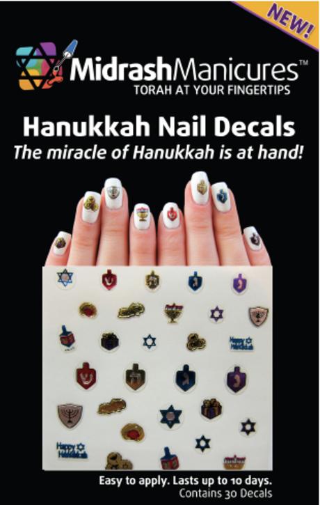It S A Nail Art Miracle Rabbi Launches Hanukkah Nail Decals Nail Decals Hanukkah Jewish Crafts