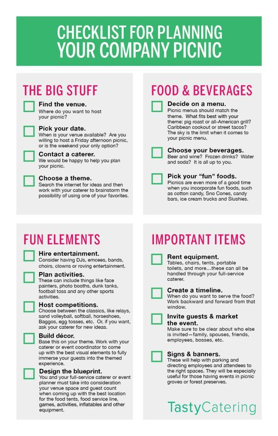 Need Help Planning A Picnic Check Out This Checklist