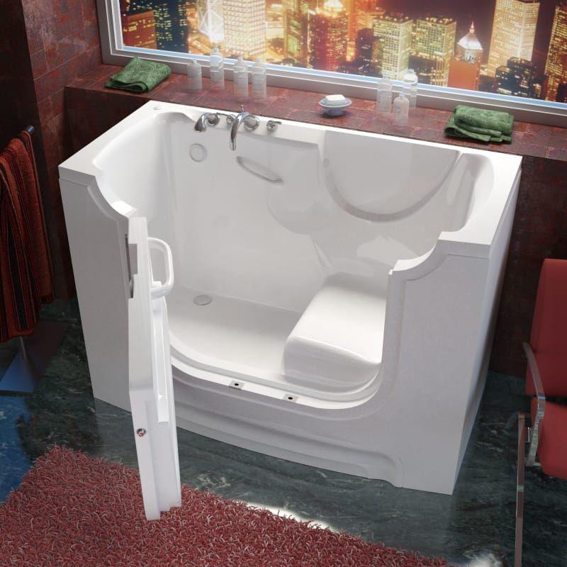Meditub 3060wcals 60 Fiberglass Soaking Walk In Tub For Alcove