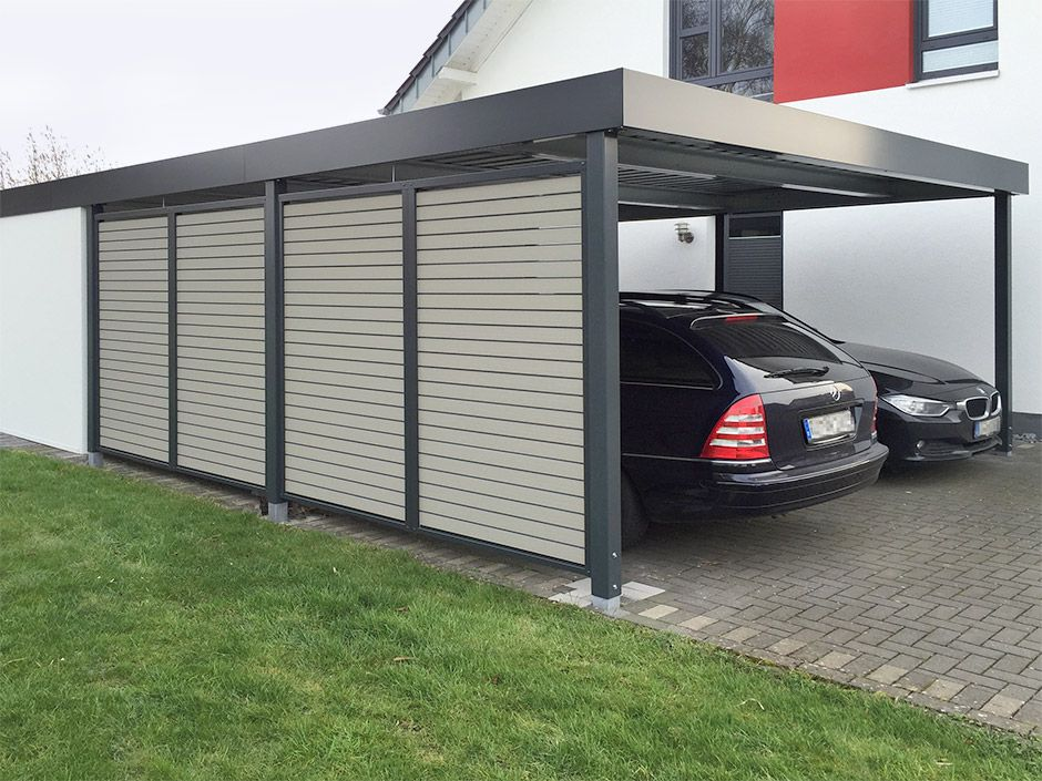 carport wandelemente carport einhausungen eingangs berdachung m lltonnenbox garage. Black Bedroom Furniture Sets. Home Design Ideas