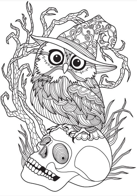 Halloween Owl | Colorish: free coloring book app for ...