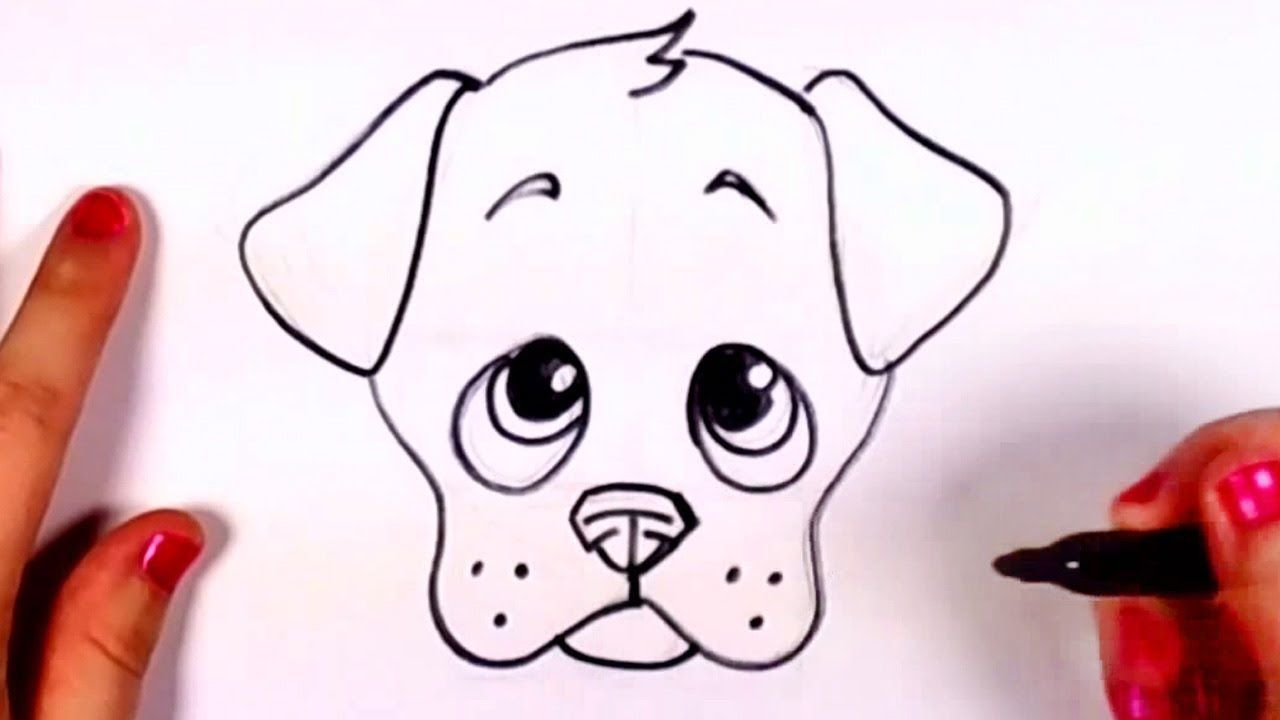 Draw A Dog Face Puppy Drawing Easy Dog Face Drawing Funny Face
