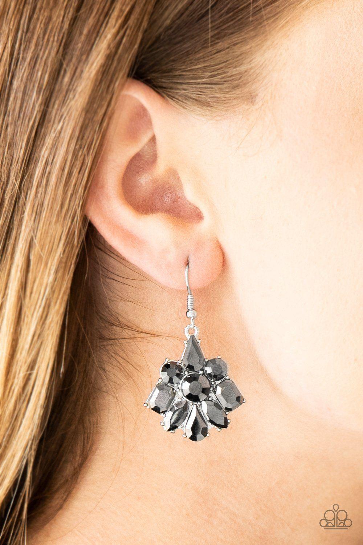 Fiercely Famous silver Paparazzi earrings Earrings