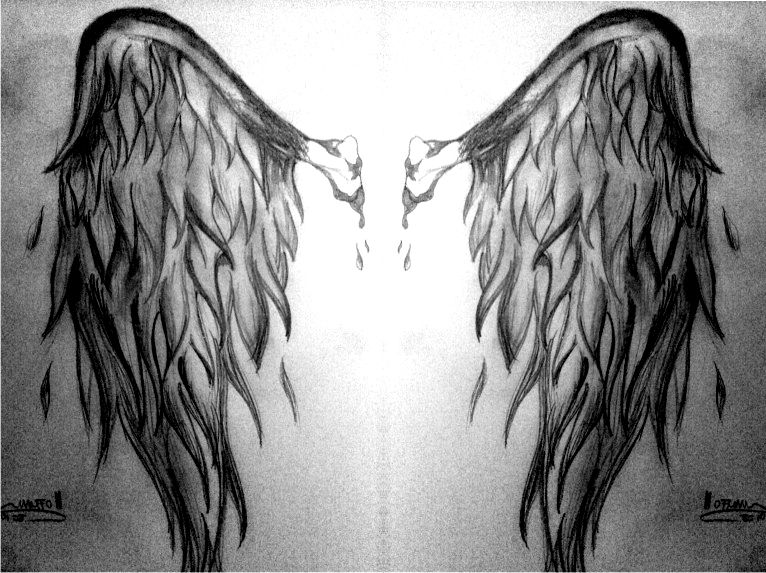 dark angel wings tattoo angel wings zeichnungen comic. Black Bedroom Furniture Sets. Home Design Ideas