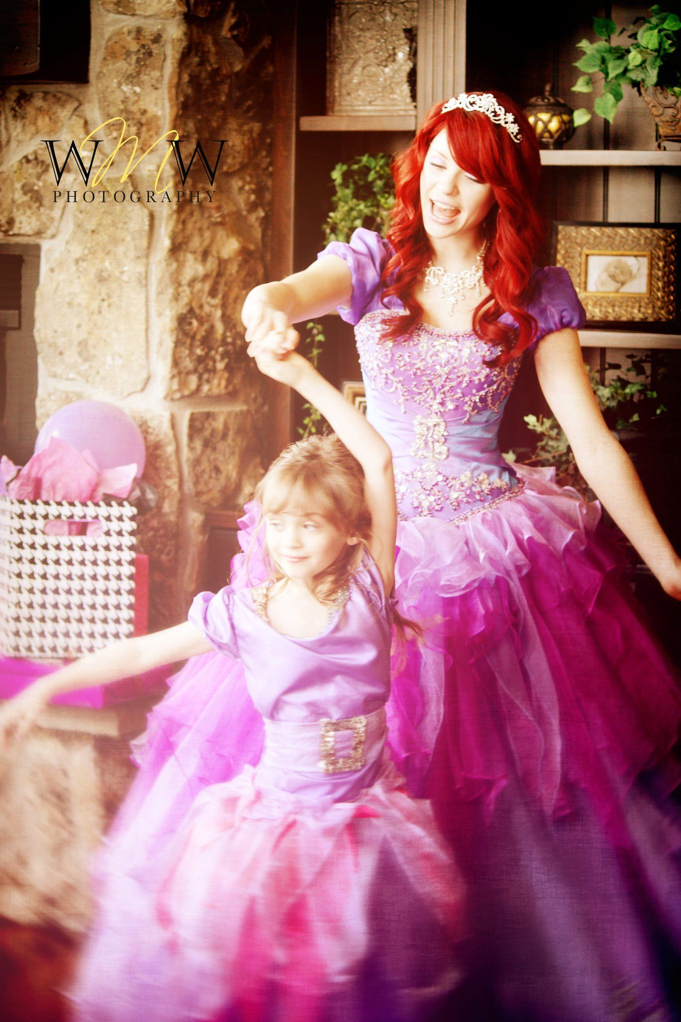 how sweet!! Ariel in the most gorgeous dress!