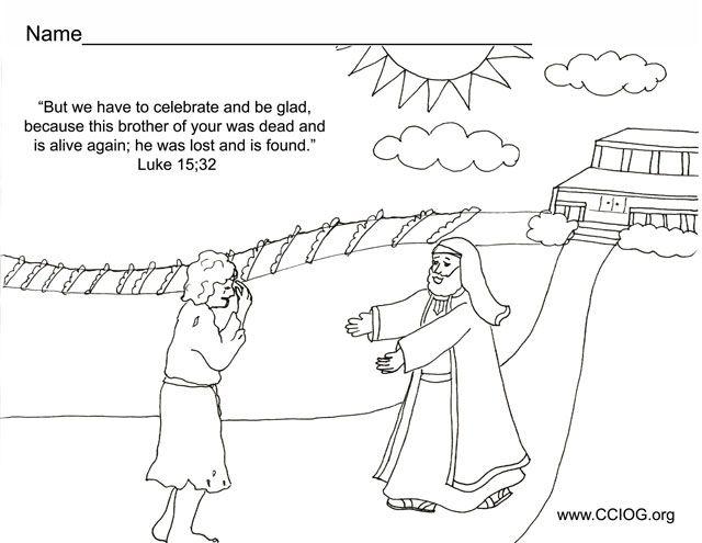 Prodigal Son Returns | Bible Stories & Crafts | Pinterest ...
