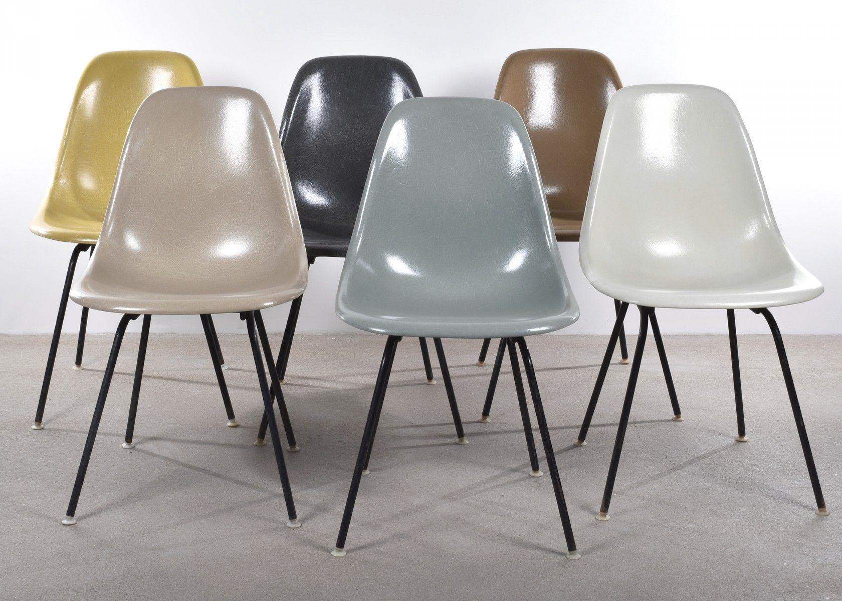 DSX Chairs von Charles und Ray Eames für Herman Miller, 6er Set 5 ...