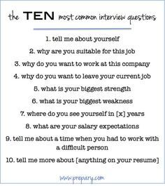 the 10 most common interview questions and tips for successfully answering them - Nursing Interview Questions And Answers