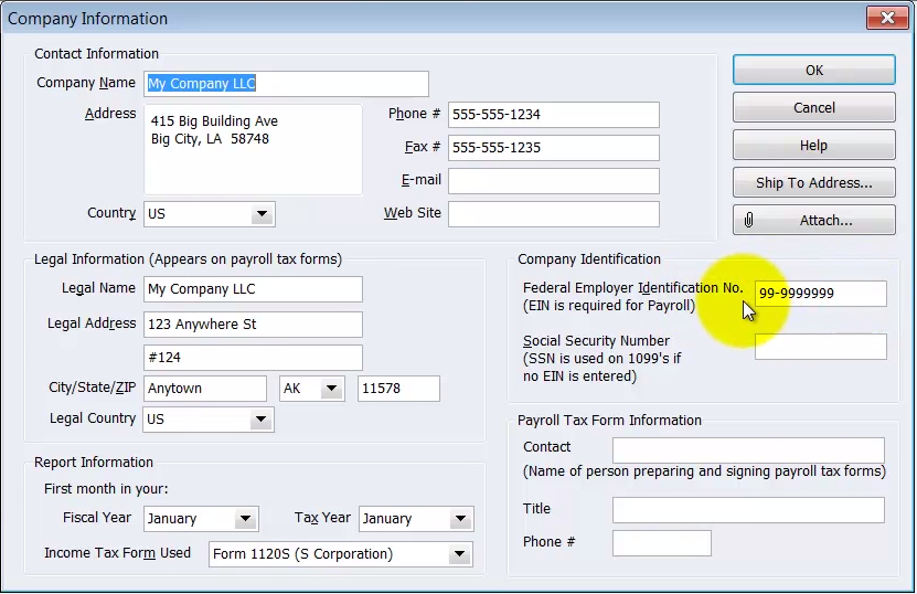 Quickbooks Payroll Set Up  How To Enter Payroll Service Key