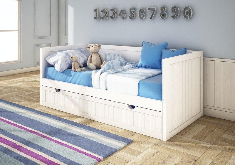 Cama nido lacada Viena sencilla para colchón superior e inferior 90 ...