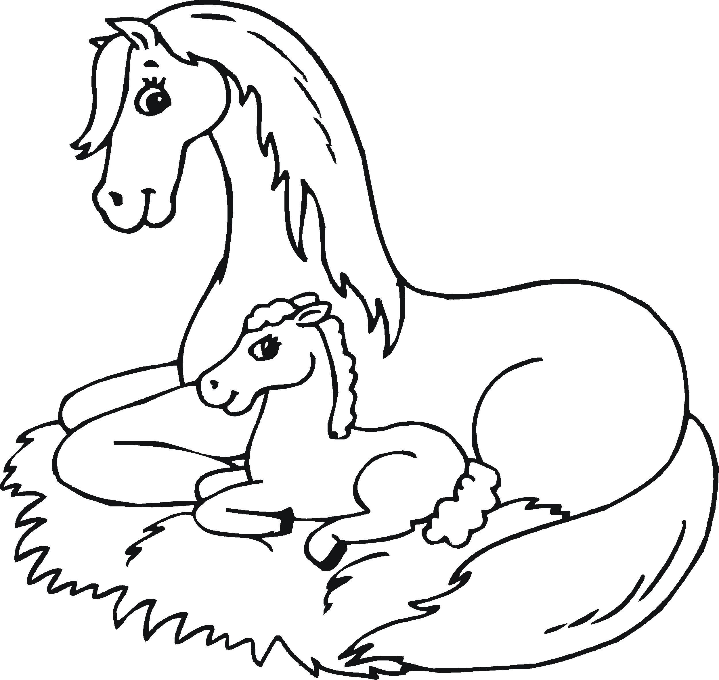 Pin von Carol Ferris auf preschool crafts  Ausmalbilder pferde