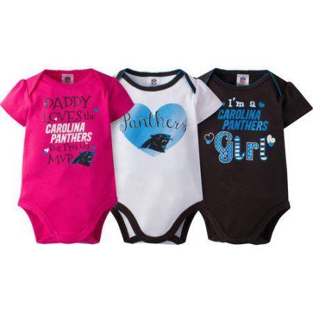 new product 0e53e 6a6c6 NFL Carolina Panthers Baby Girls Short Sleeve Bodysuit Set ...