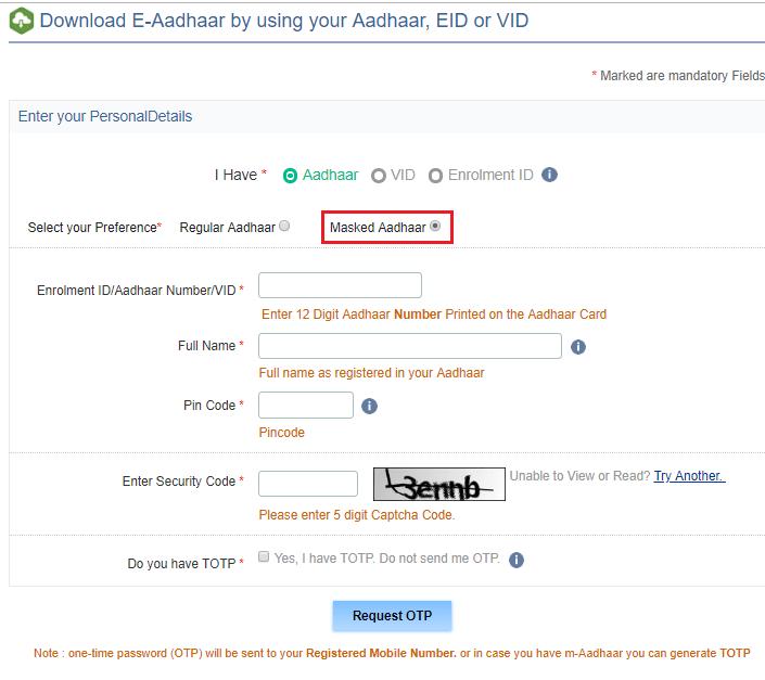 eaadhar card download onlineeaadhaaruidaigovin 7