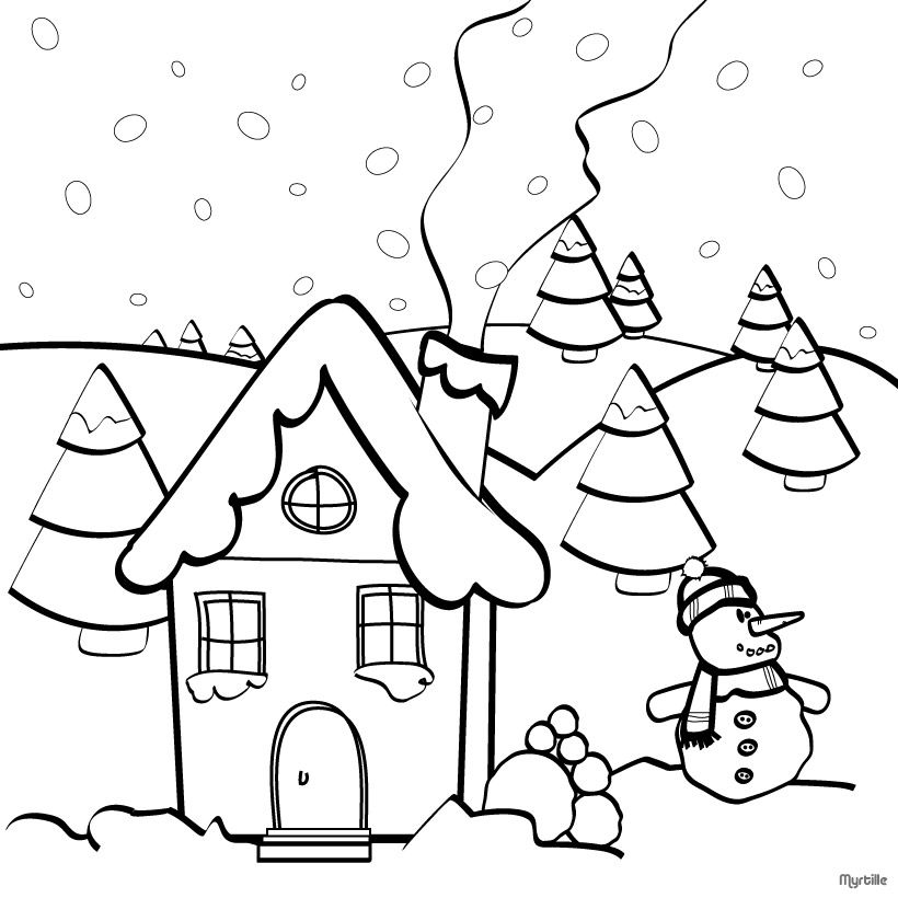 Christmas Coloring Pages Christmas Village Coloring Pages