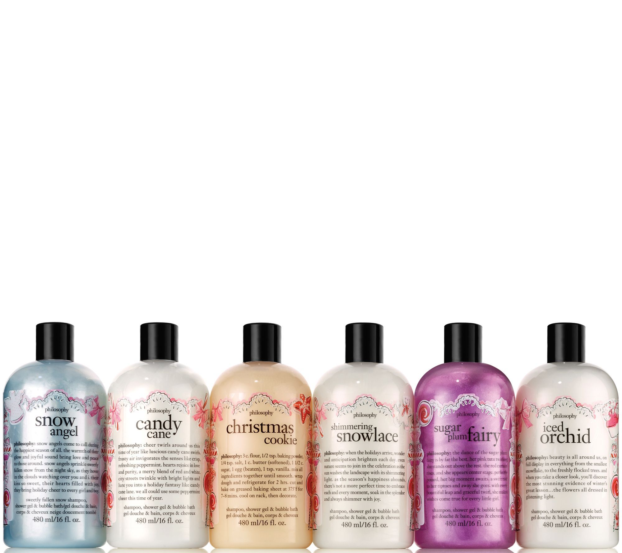philosophy happy holidays shower gel 6 piece collection — QVC.com ...