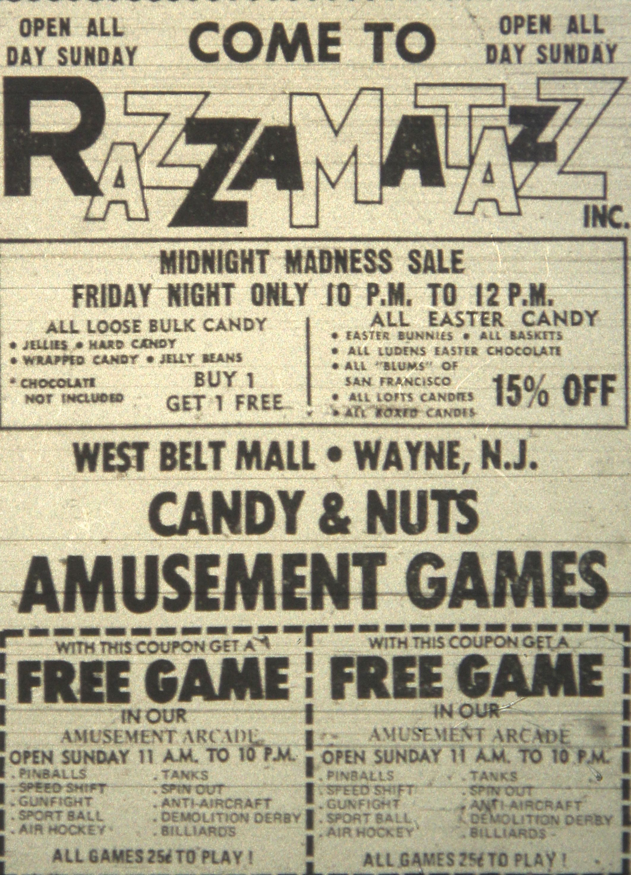 New jersey passaic county wayne - Razzmatazz In Wayne Nj 1976