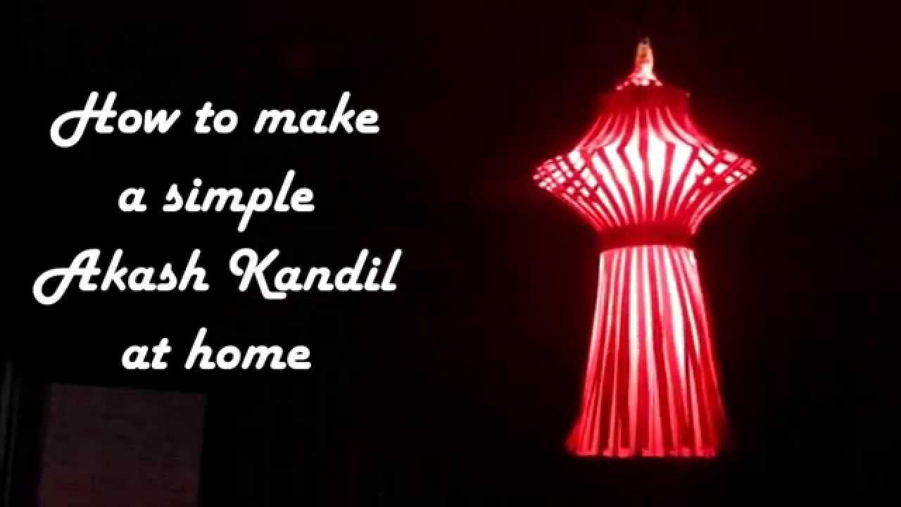 Diy How To Make Simple Akash Kandil At Home Equipment Swantutorial Blue39s Chinese 3d Modular Origami Swan Diagram Diwali Lantern Or Paper