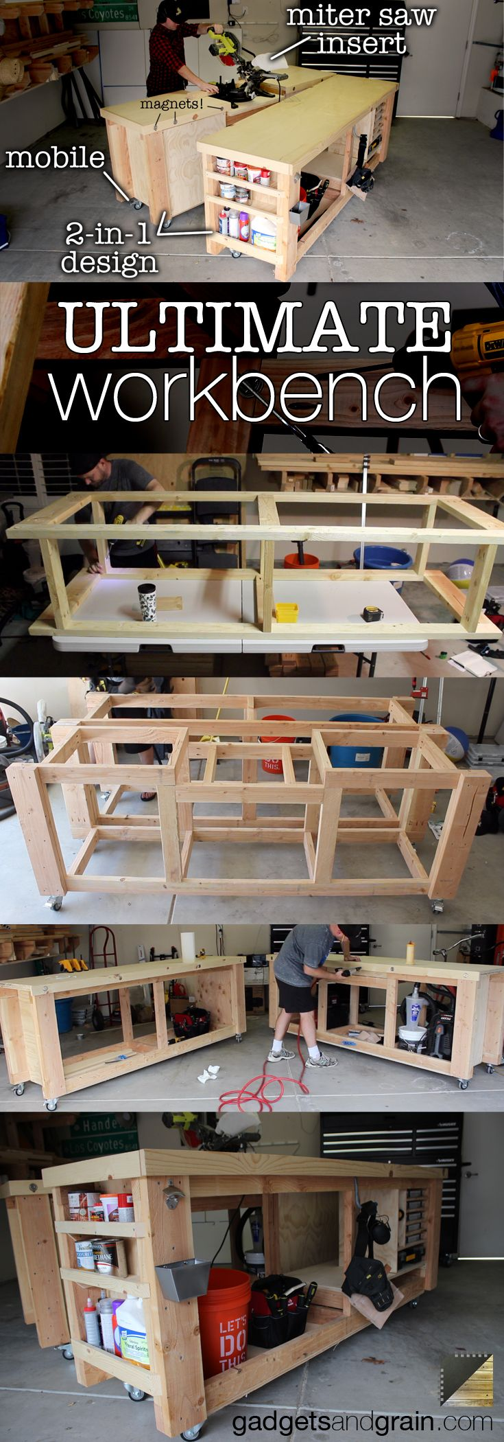 Diy Mobile Modular Workbench To Bring Your Shop To The Next