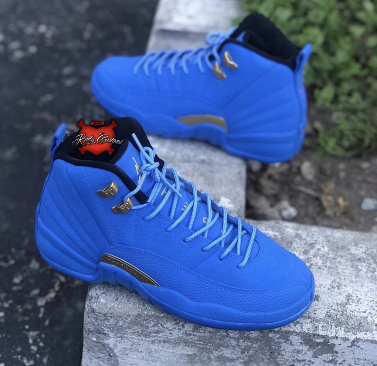 Custom Air Jordan Melo Blue \u0026 Gold XII