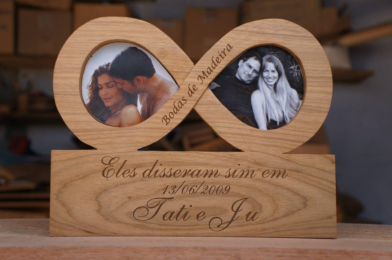 Bodas De Madeira Placa 5 Anos De Casados Aniversario Casamento