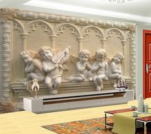 Fliegen Angel Baby Religion Malerei Vinyi Tapete 3d Bodenbelag Wand  Haushalt Mural Rollen Für Wohnzimmer Hotel