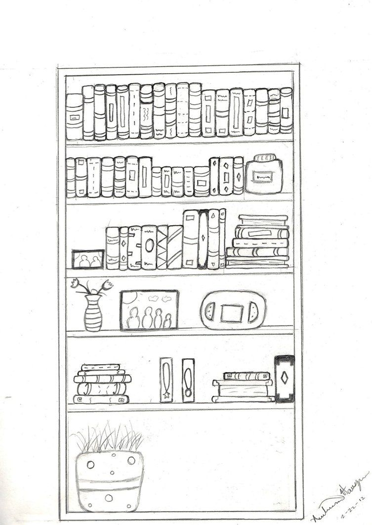How To Draw Books On A Shelf Google Search Its In A Book
