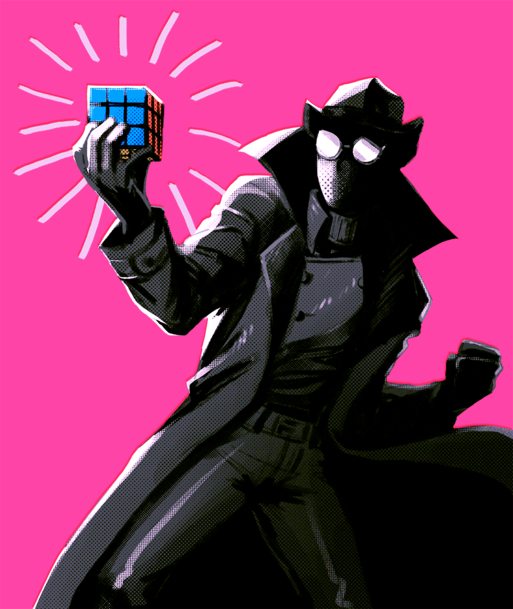 Spiderman noir and his rubik 39 s cube comics characters spiderman spider spiderman marvel - Image spiderman noir ...