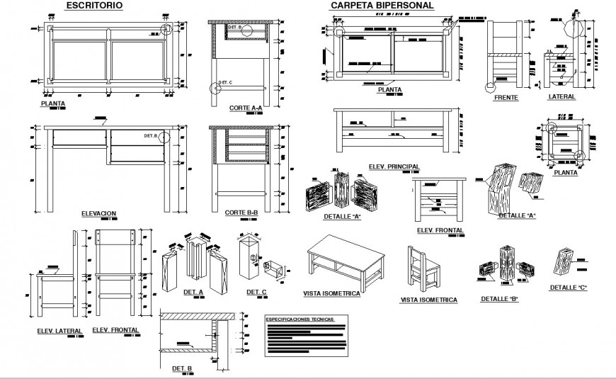 Chair And Table Working And Joinery Detail In Dwg File Joinery Details Office Furniture Joinery