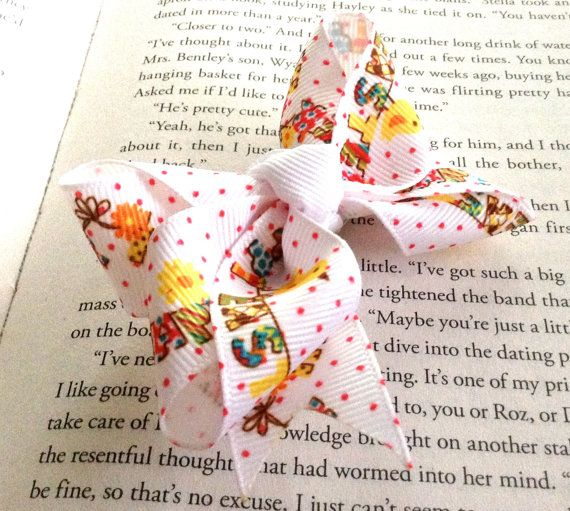 Happy Easter Chicks Hair Bow by LaleePops82 on Etsy