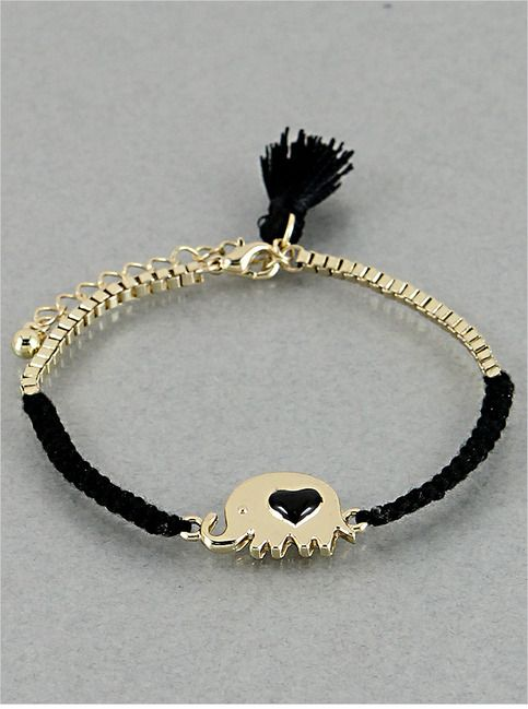 Black Elefantito Bracelet from P.S. I Love You More Boutique