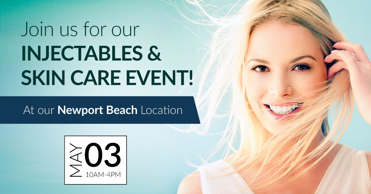 Join us tomorrow for our Injectables and Skin Care Event