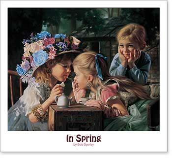 In Spring By Bob Byerley Childrens Girls Dress-Up Print