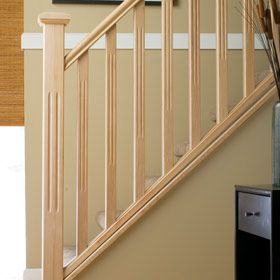 Inspiring Interior Wood Stair Railing Kits #14 Interior Wood Railing Systems
