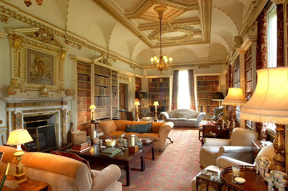The Library Holkham Hall William Kent interior courtesy of